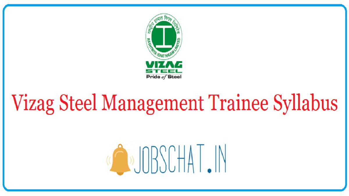 Vizag Steel Management Trainee Syllabus