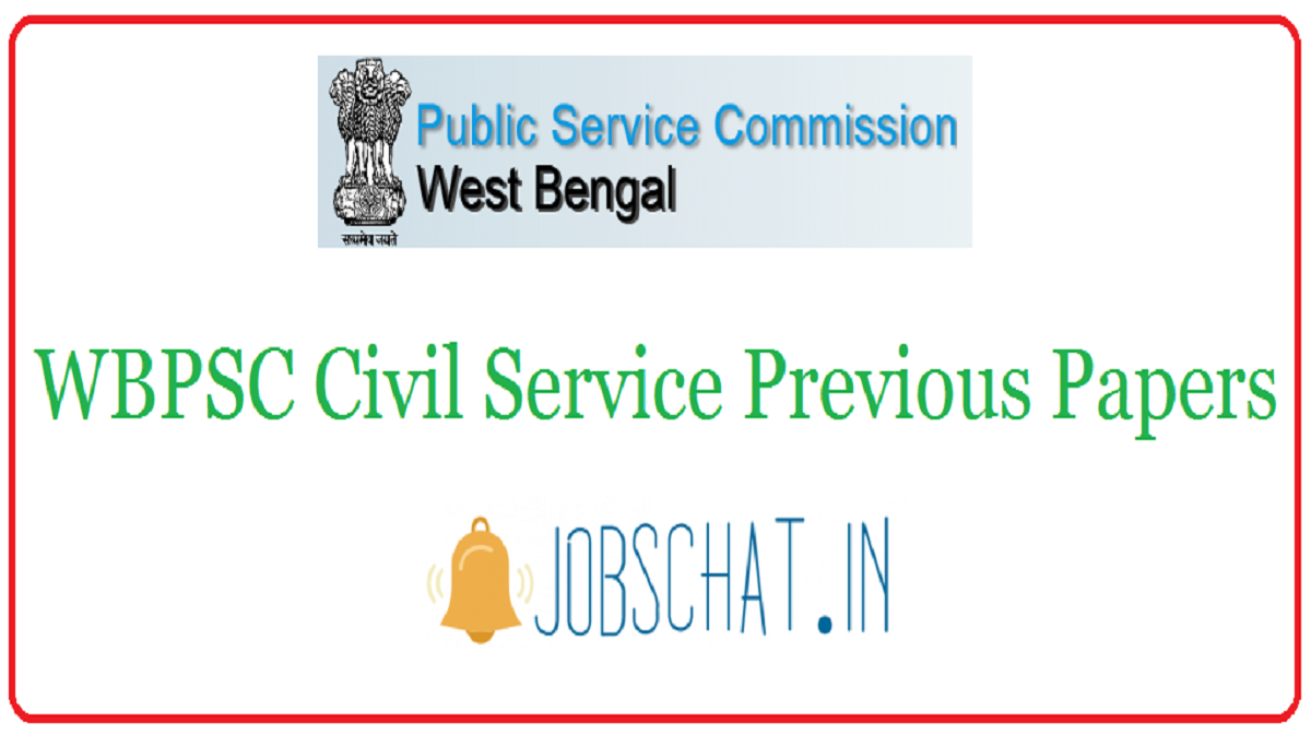 WBPSC Civil Service Previous Papers
