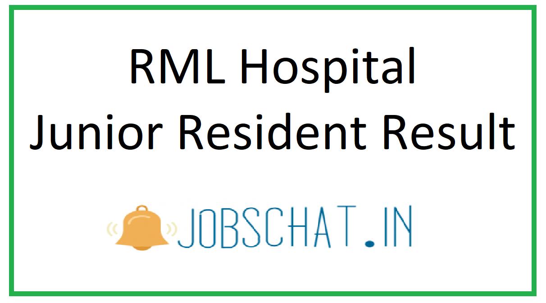 RML Hospital Junior Resident Result