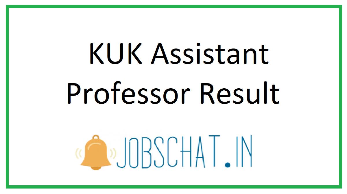 KUK Assistant Professor Result