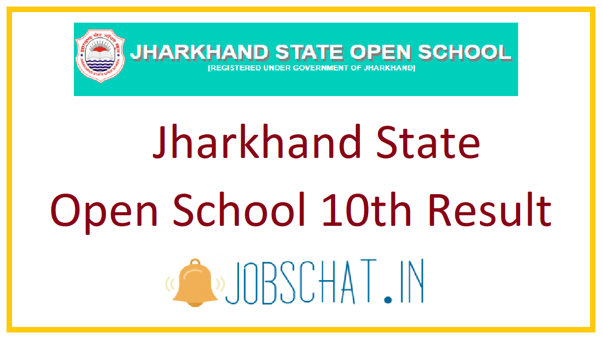 Jharkhand State Open School 10th Result