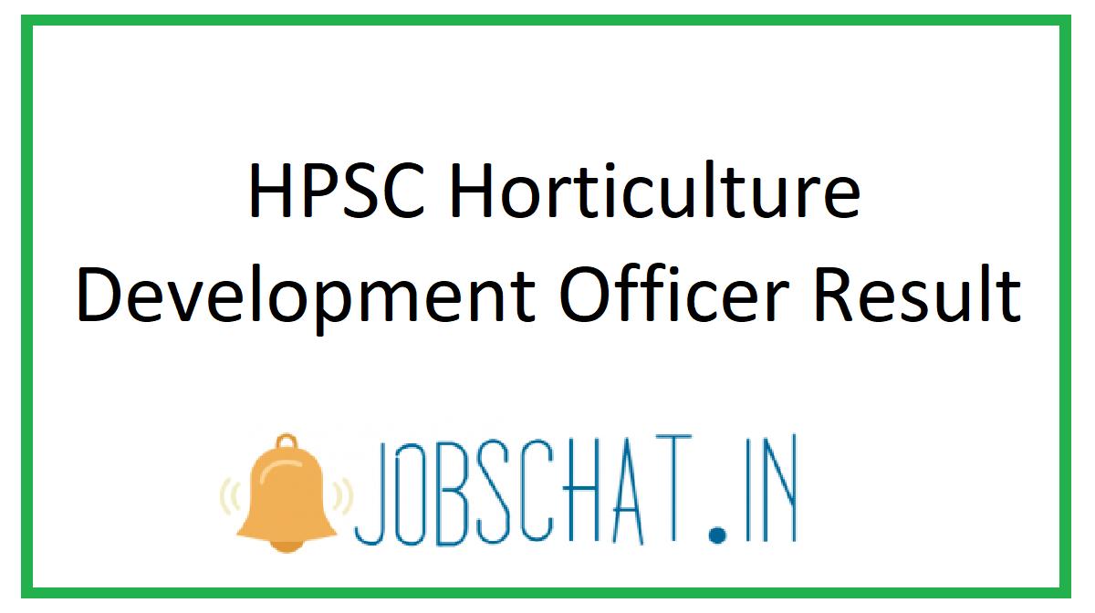 HPSC Horticulture Development Officer Result