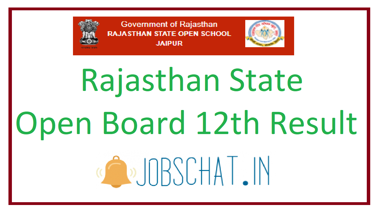 Rajasthan State Open Board 12th Result