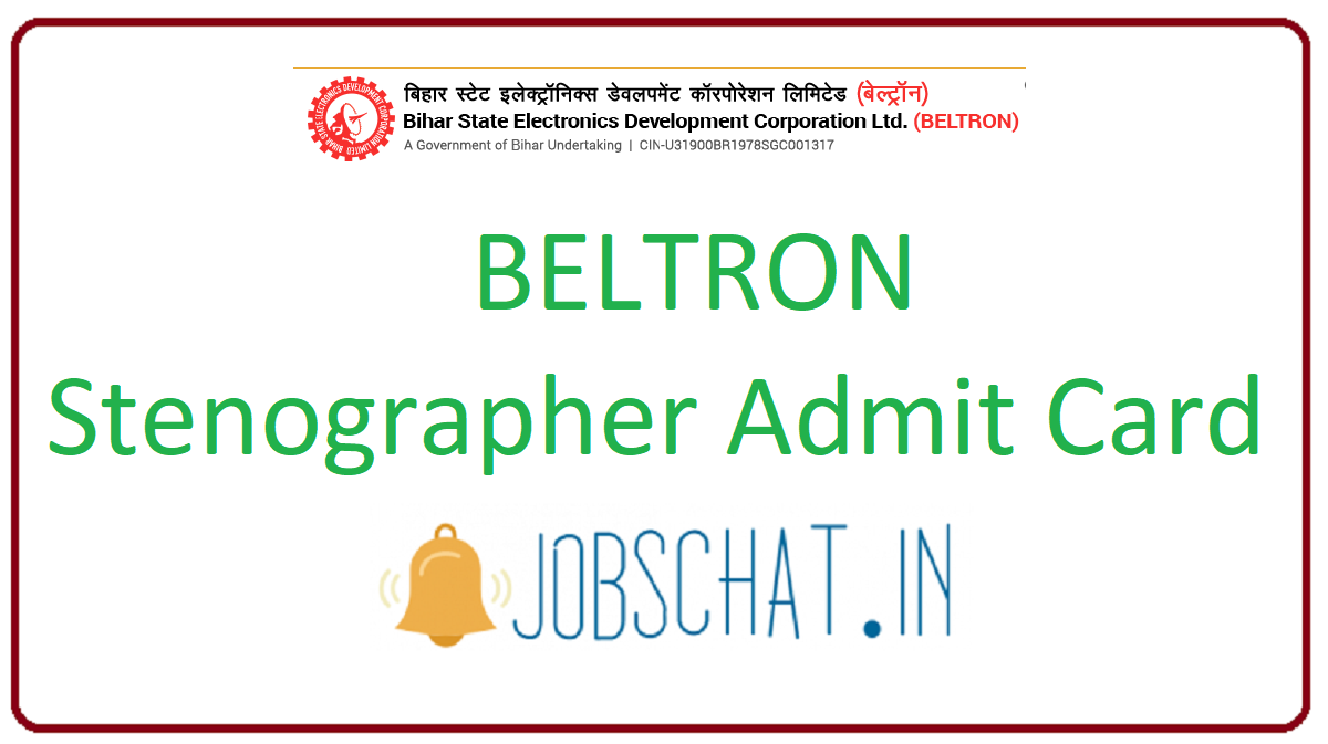 BELTRON Stenographer Admit Card