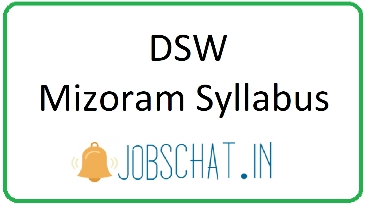 DSW Mizoram Syllabus