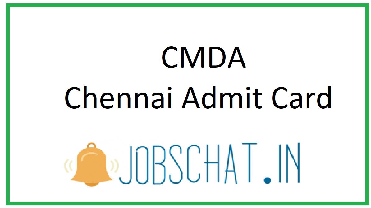 CMDA Chennai Admit Card