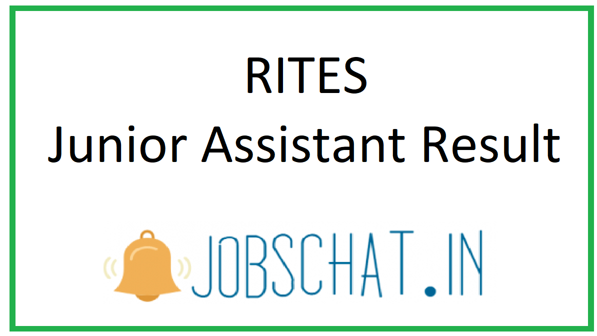 RITES Junior Assistant Result