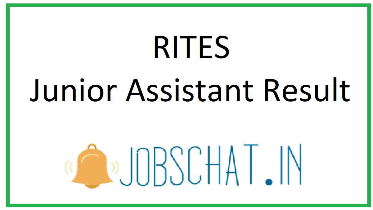 RITES Junior Assistant Result