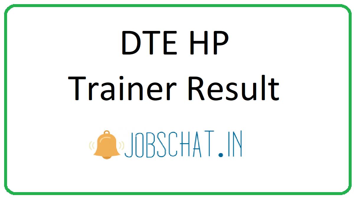 DTE HP Trainer Result