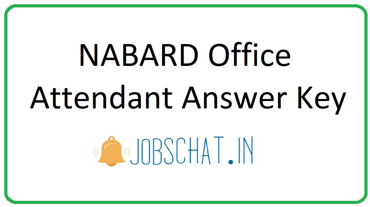 NABARD Office Attendant Answer Key