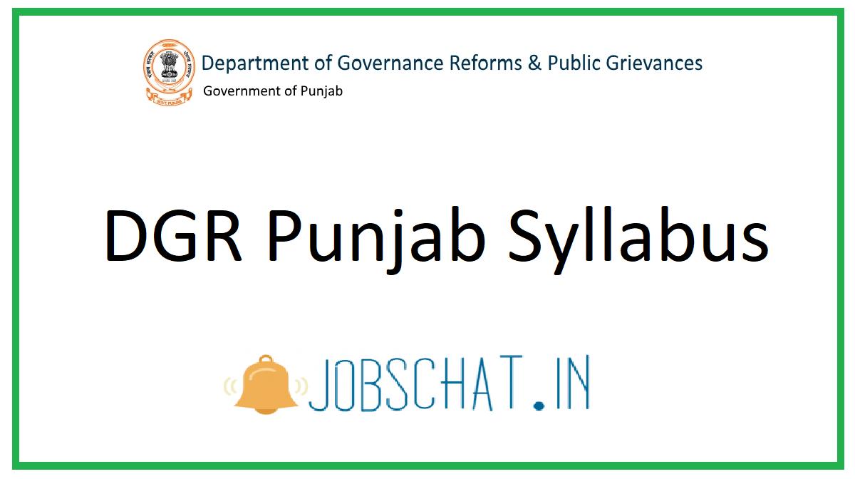 DGR Punjab Syllabus