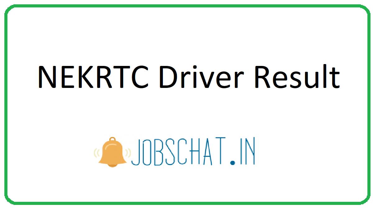 NEKRTC Driver Result