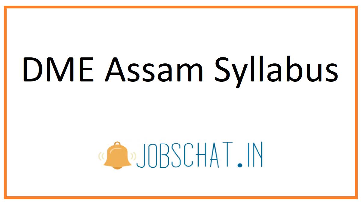 DME Assam Syllabus