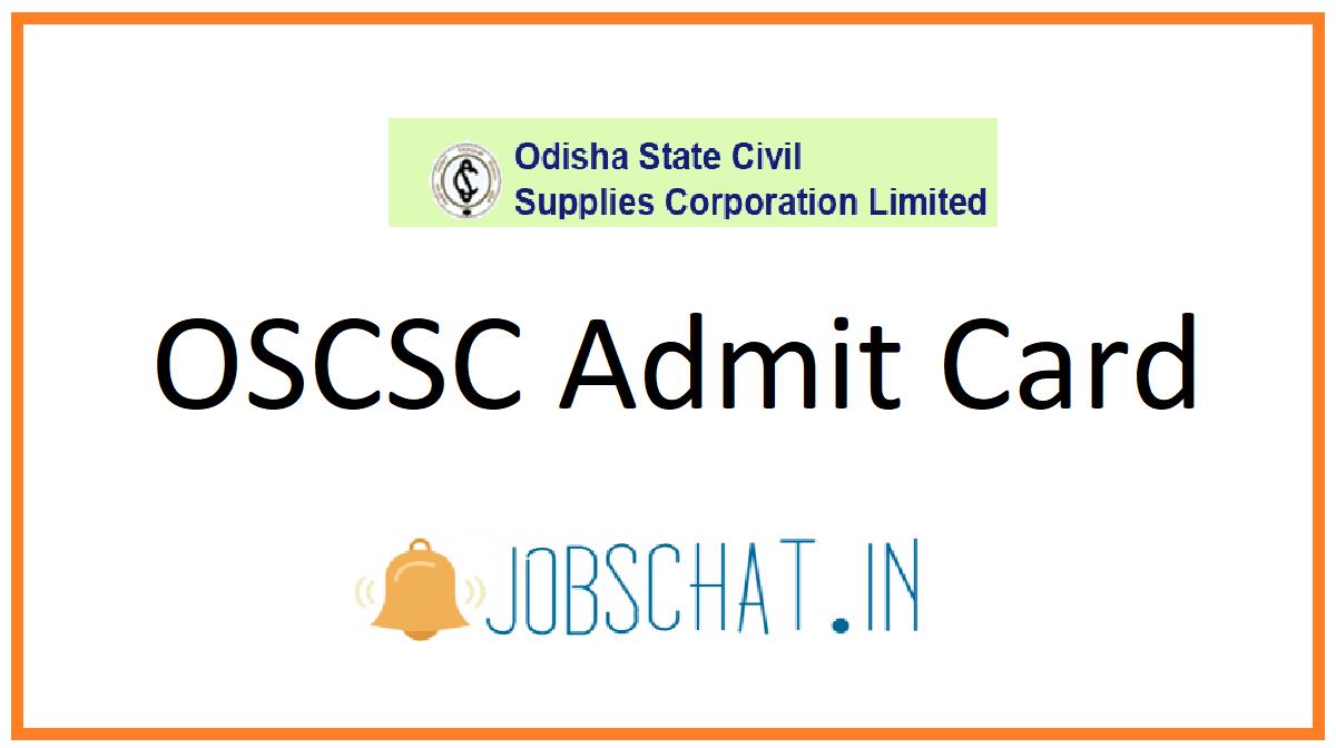 OSCSC Admit Card