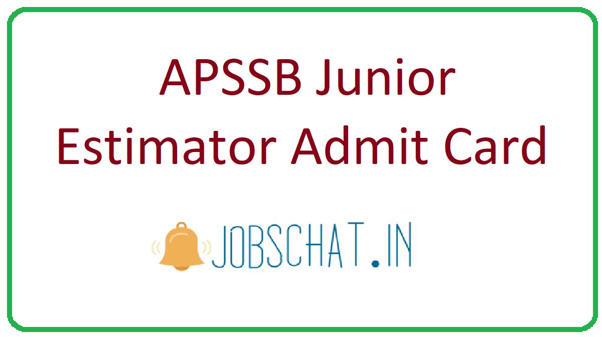 APSSB Junior Estimator Admit Card
