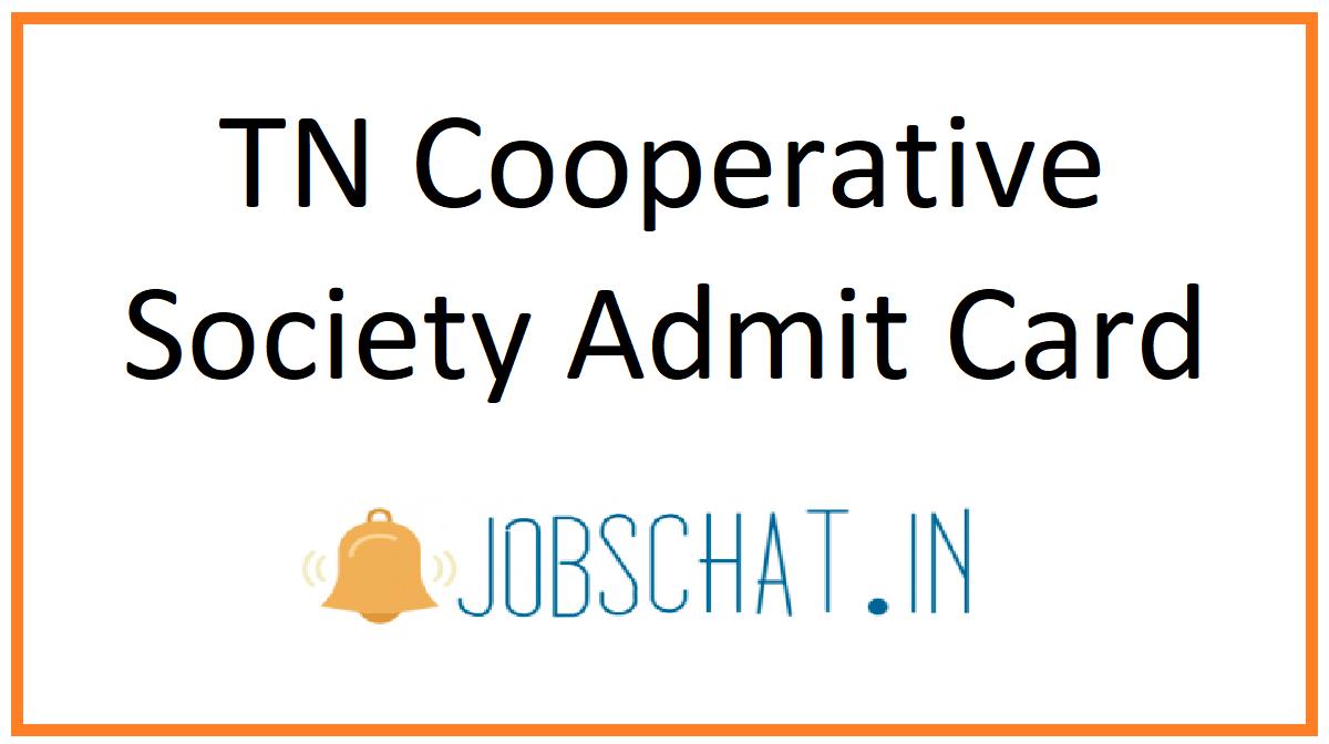 TN Cooperative Society Admit Card
