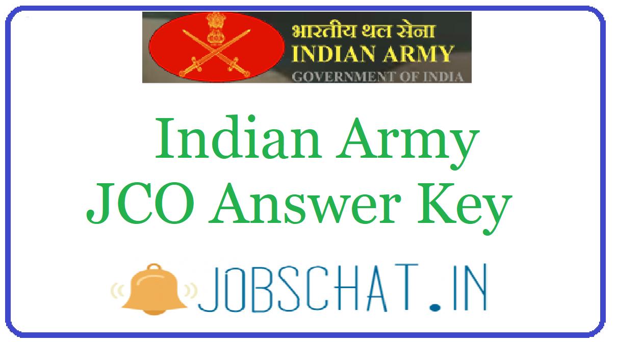Indian Army JCO Answer Key