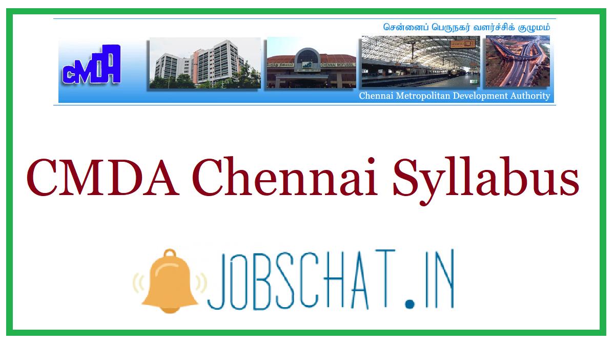 CMDA Chennai Syllabus