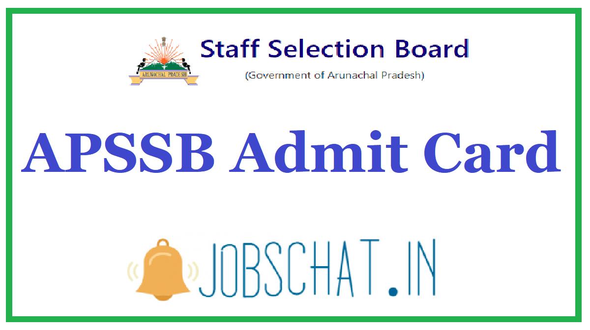 APSSB Admit Card