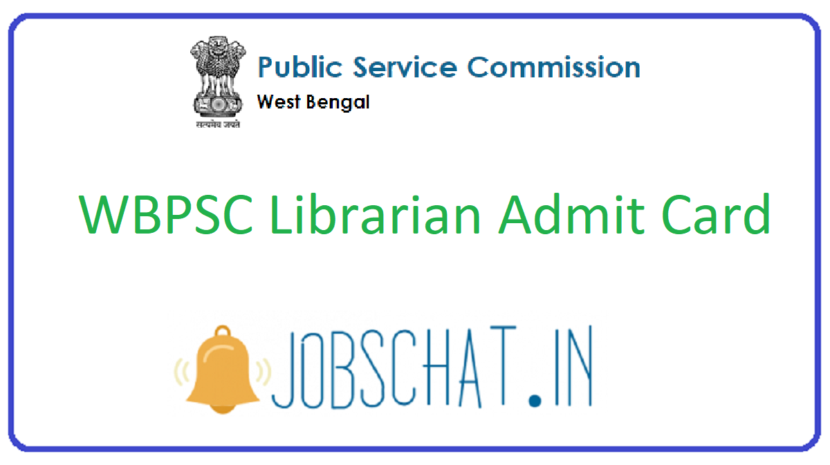 WBPSC Librarian Admit Card