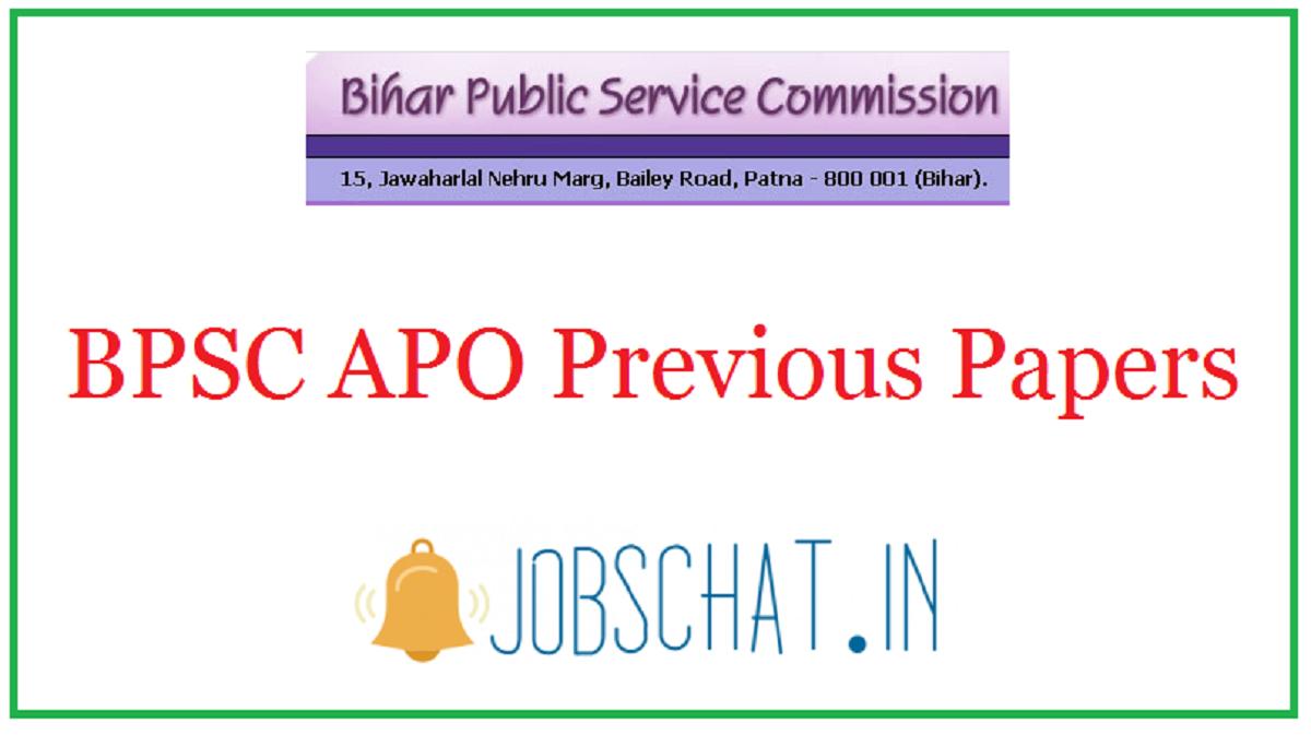 BPSC APO Previous Papers