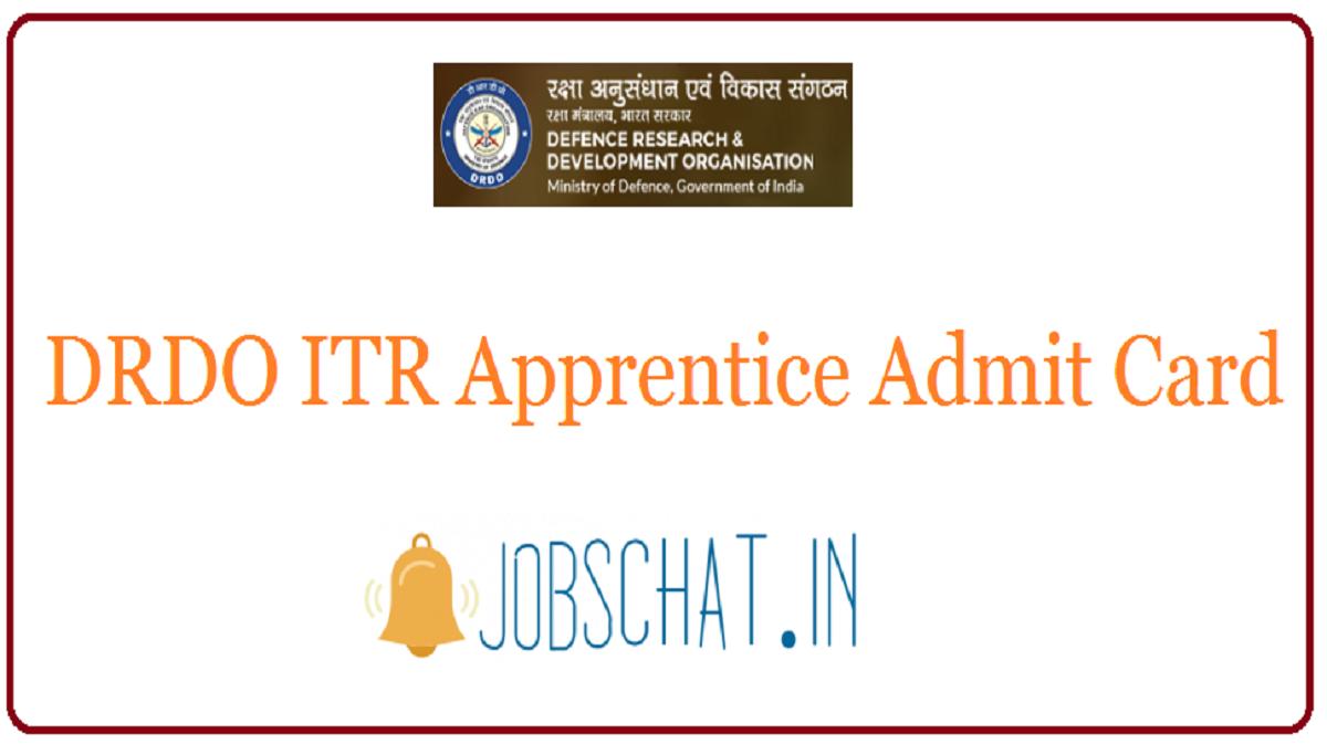 DRDO ITR Apprentice Admit Card