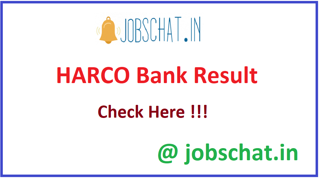 HARCO Bank Result