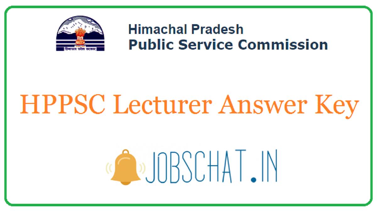 HPPSC Lecturer Answer Key