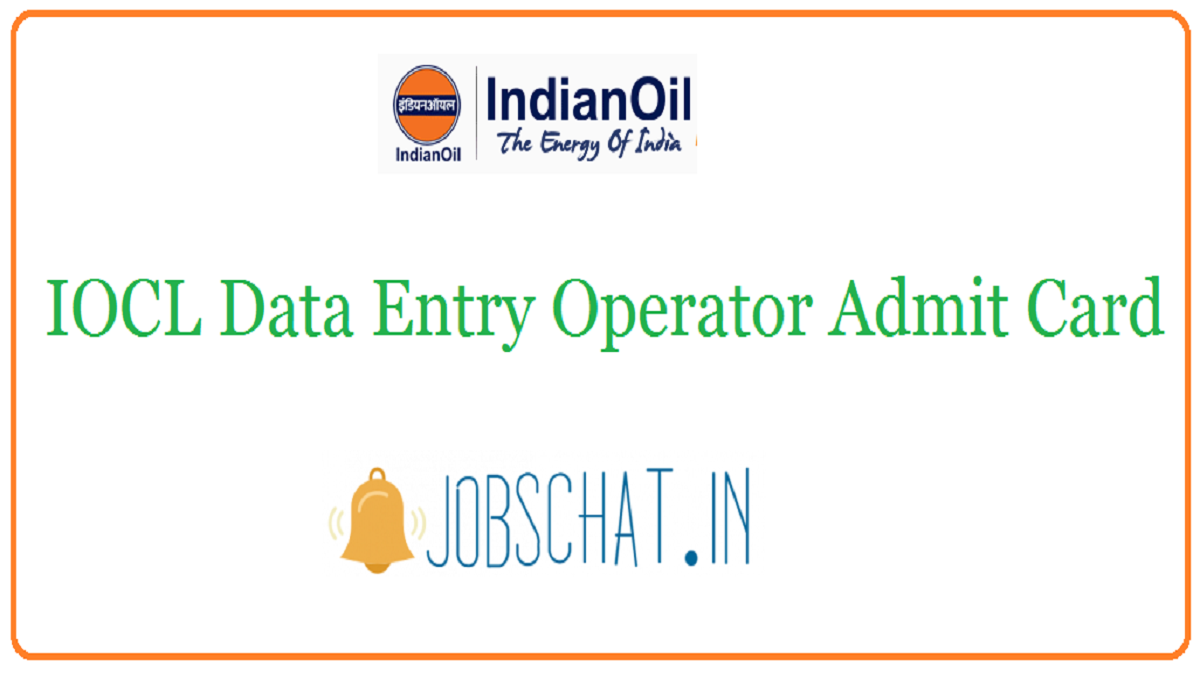 IOCL Data Entry Operator Admit Card