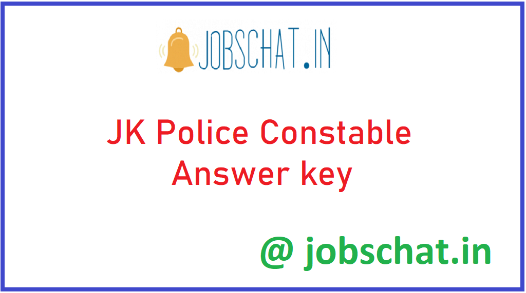 JK Police Constable Answer key
