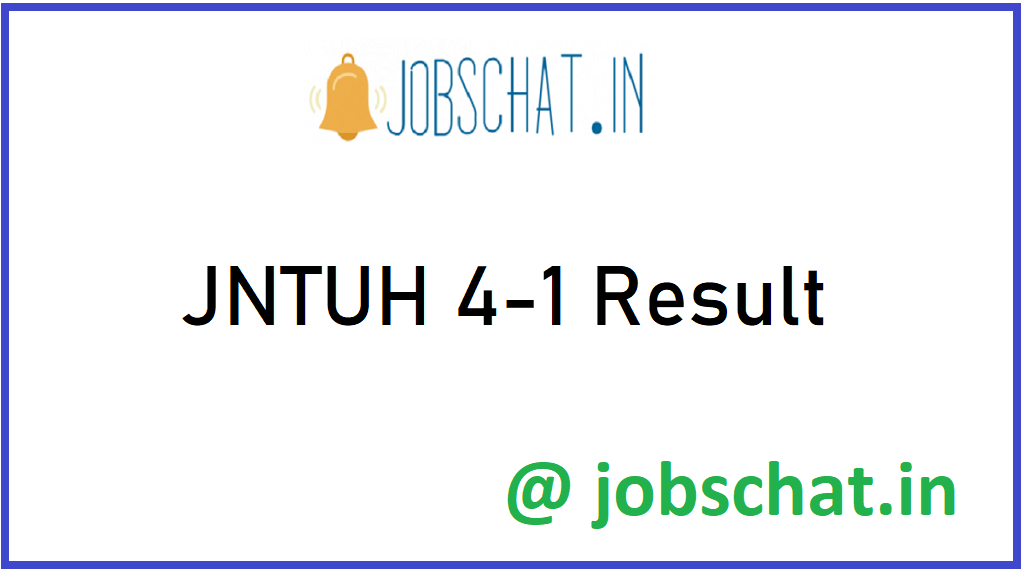 JNTUH 4-1 Results