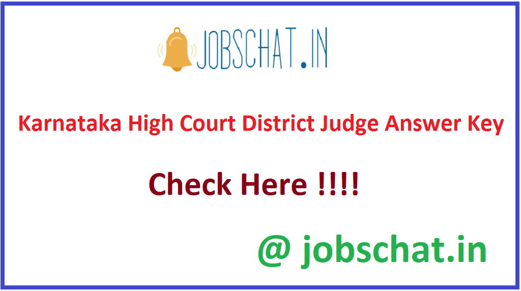Karnataka High Court District Judge Answer Key