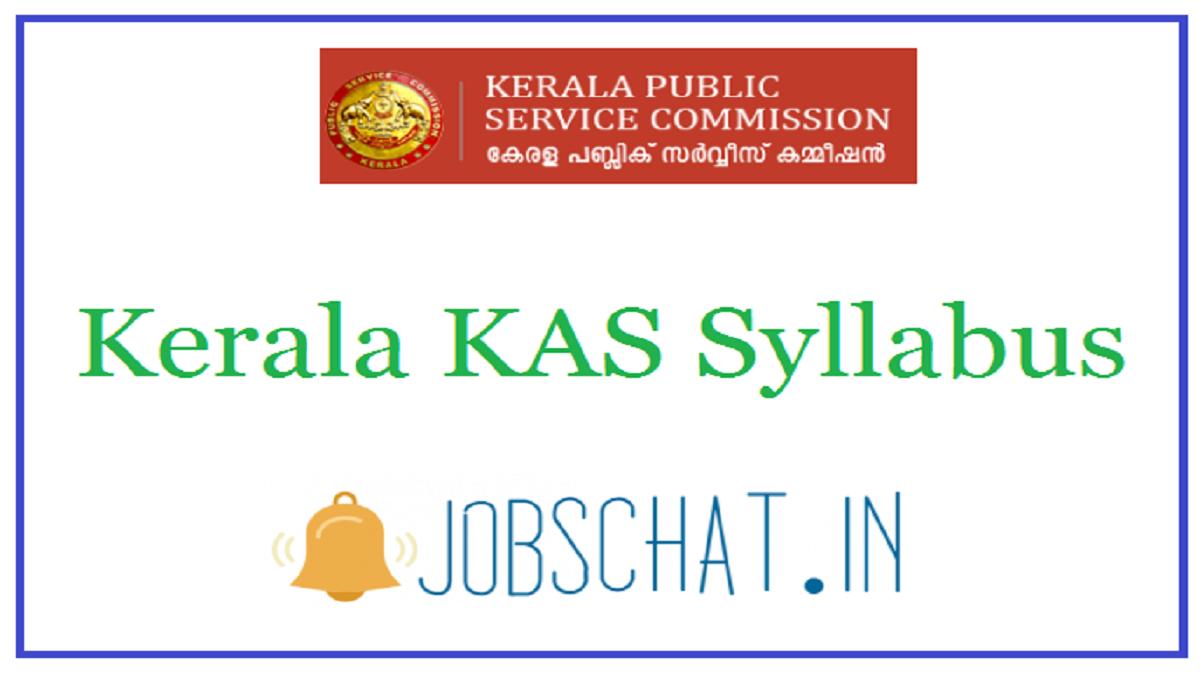 Kerala KAS Syllabus