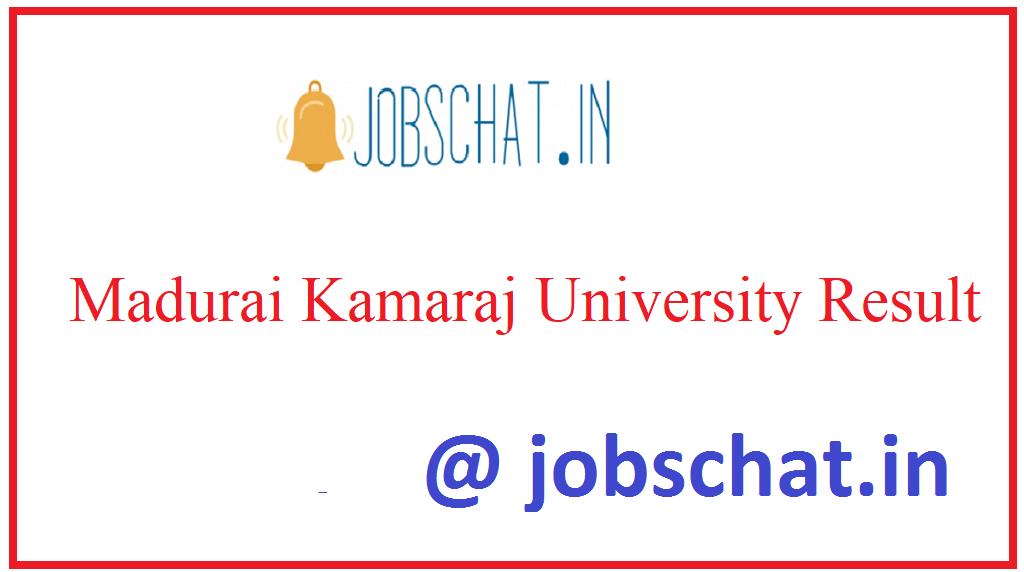 Madurai Kamaraj University Result