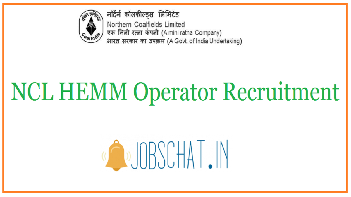 NCL HEMM Operator Recruitment