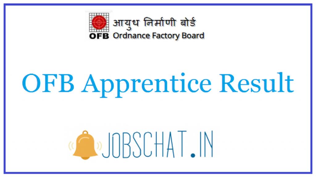 OFB Apprentice Result