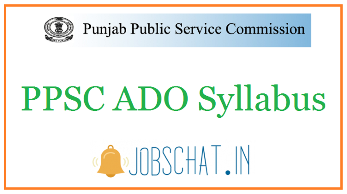 PPSC ADO Syllabus