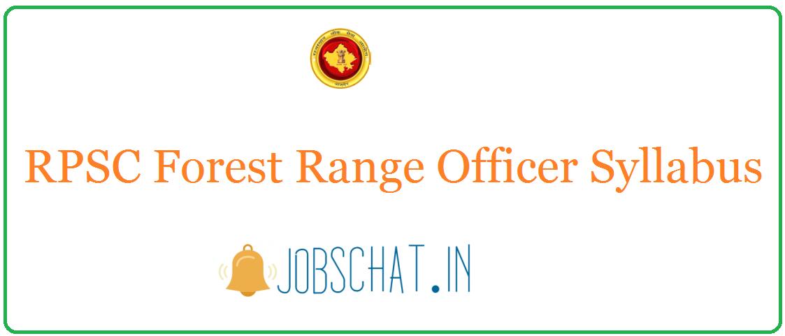 RPSC Forest Range Officer Grade I Syllabus