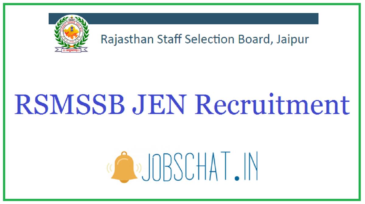 RSMSSB JEN Recruitment