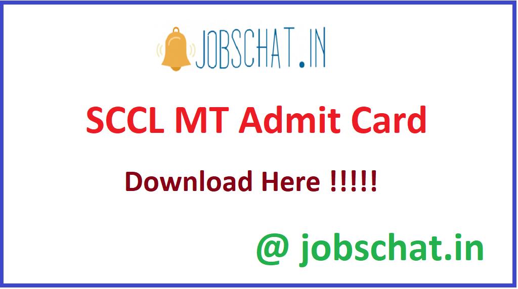 SCCL MT Admit Card