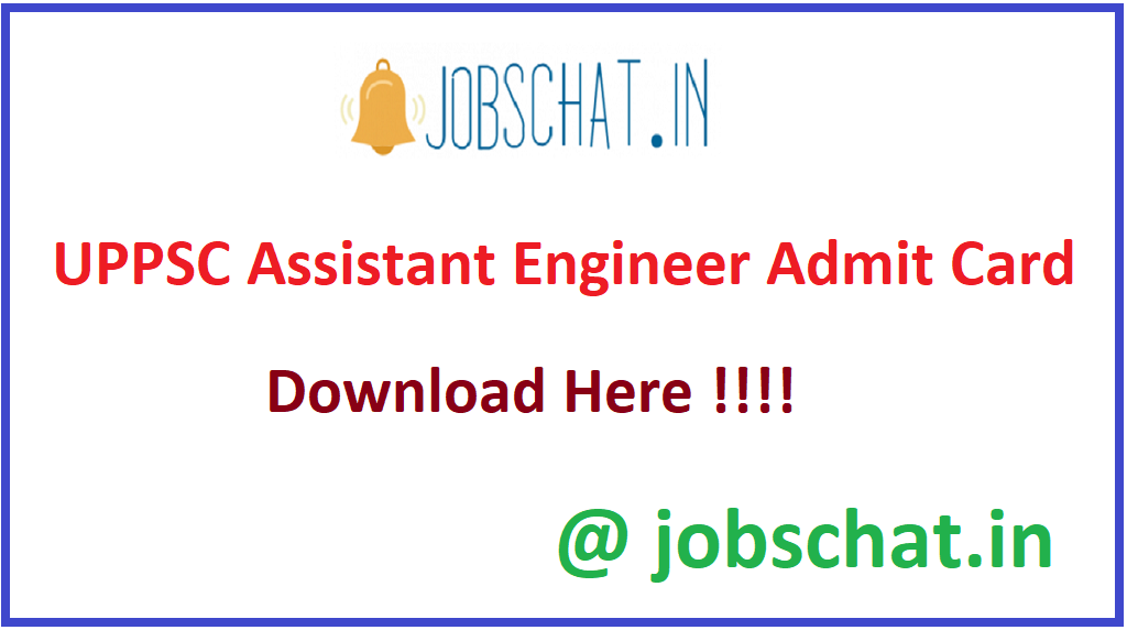 UPPSC Assistant Engineer Admit Card