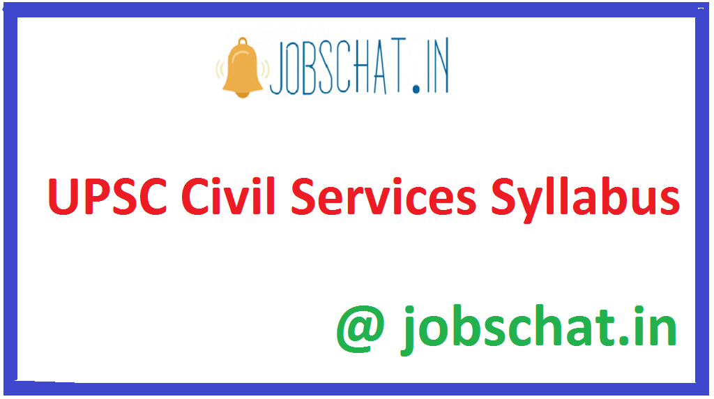 UPSC Civil Services Syllabus