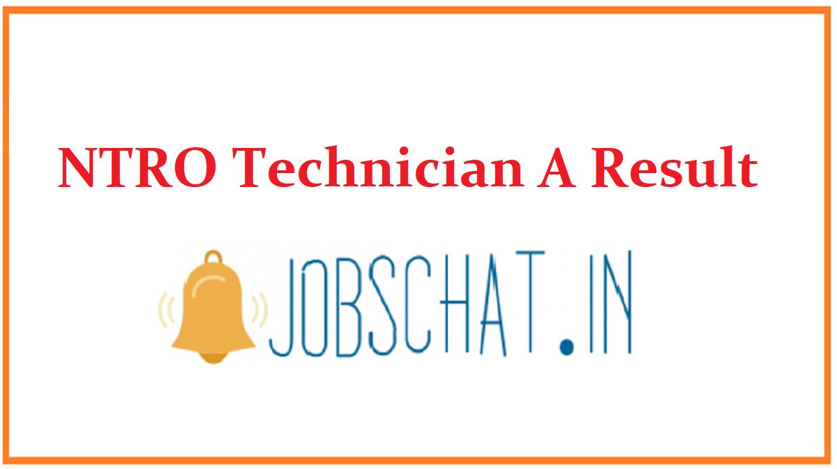 NTRO Technician A Result