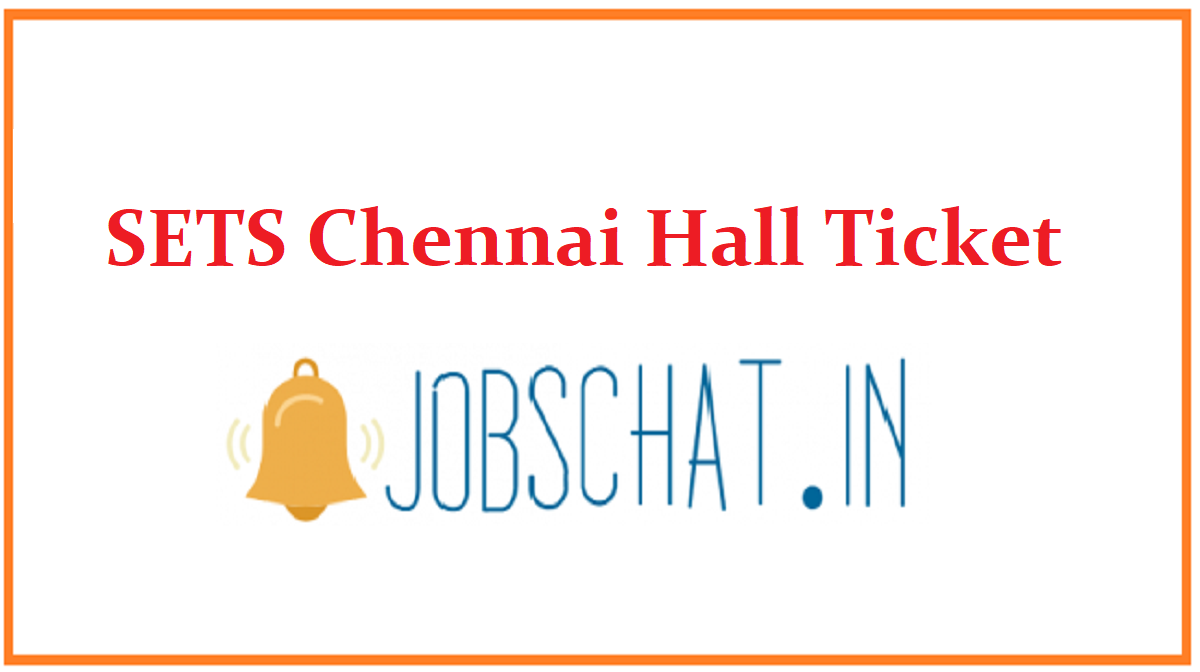 SETS Chennai Hall Ticket