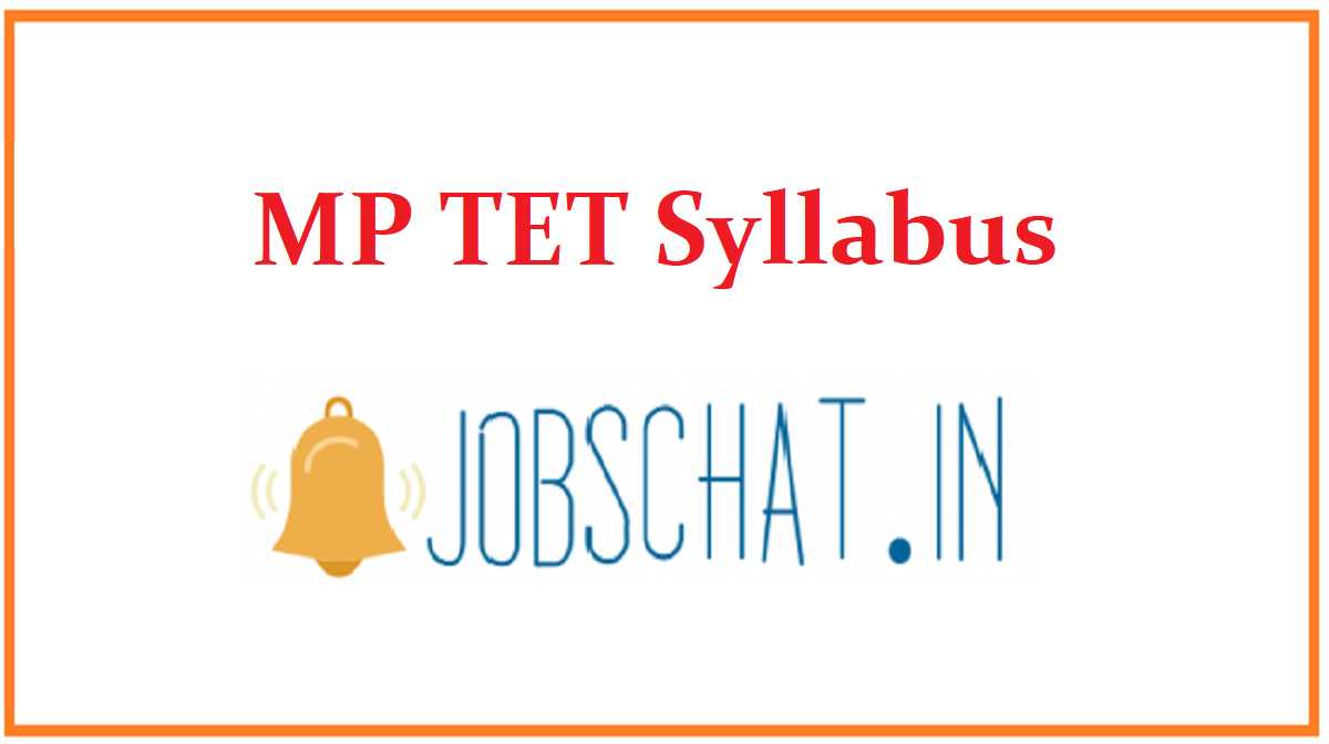 MP TET Syllabus