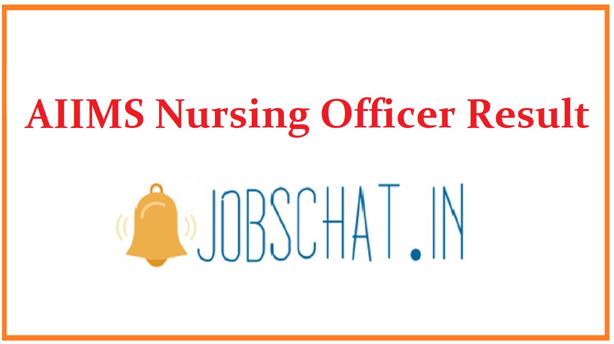AIIMS Nursing Officer Result
