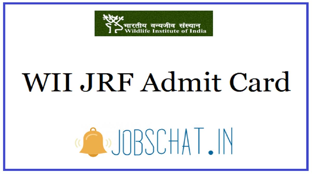 WII JRF Admit Card