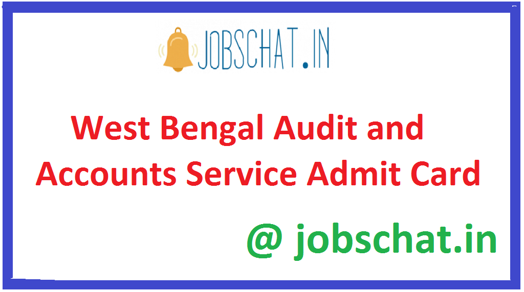 West Bengal Audit and Accounts Service Admit Card