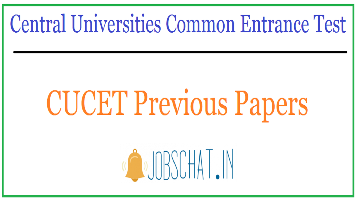 CUCET Previous Papers