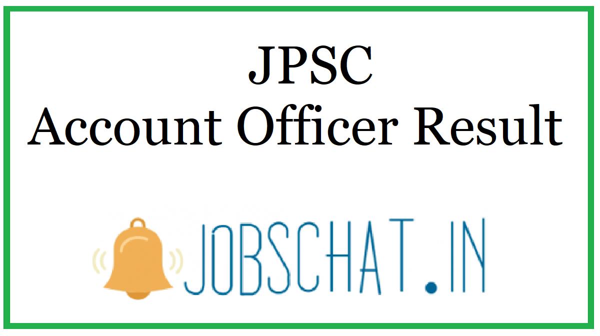JPSC Account Officer Result